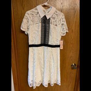 Nanette Lenore white and black dress